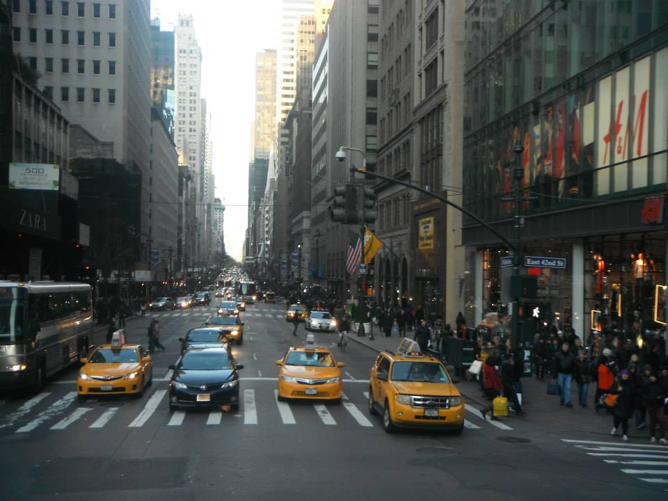 cabs in new york city streets