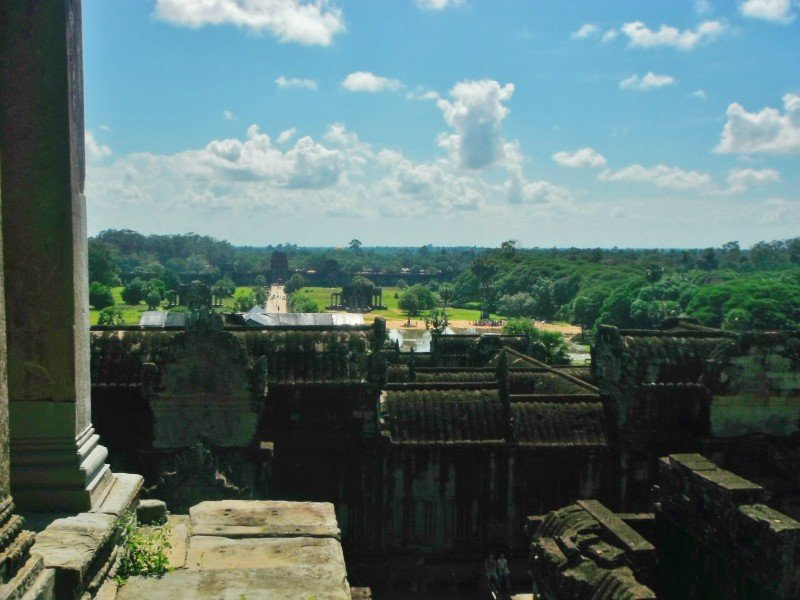 The view from top of Angkor Wat temple