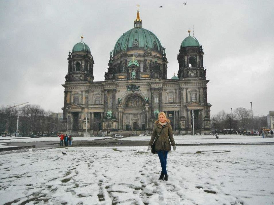 Berlin Cathedral in winter