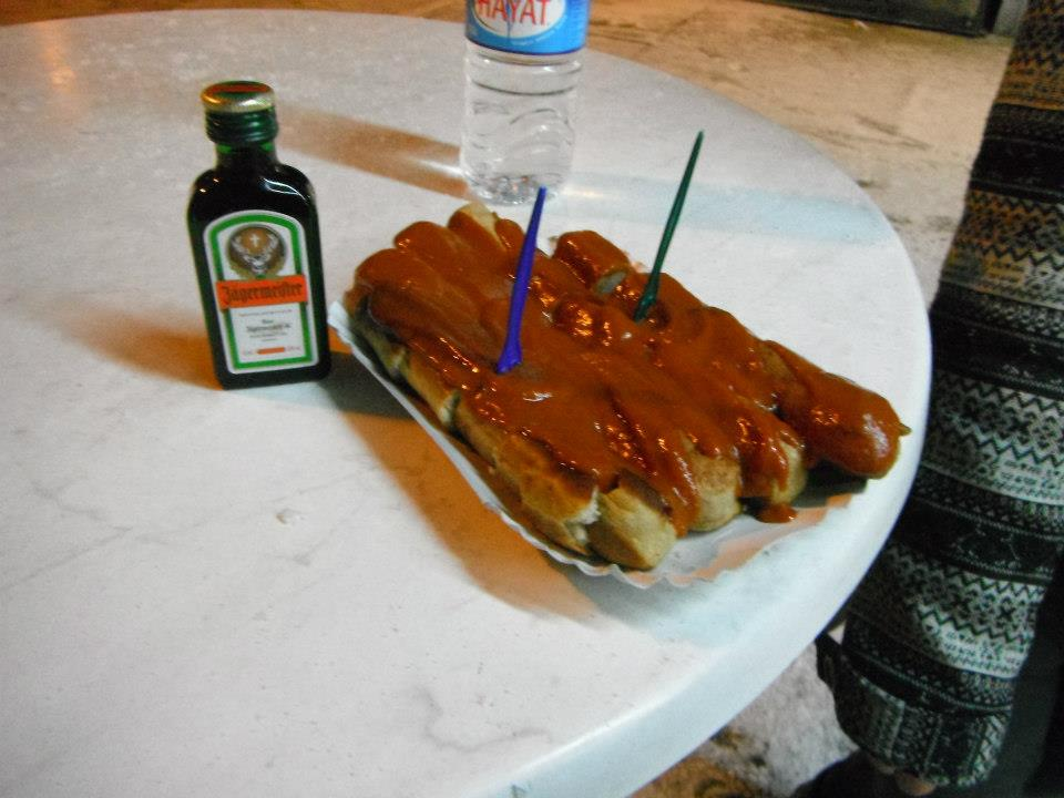 Currywurst and Jagermiester