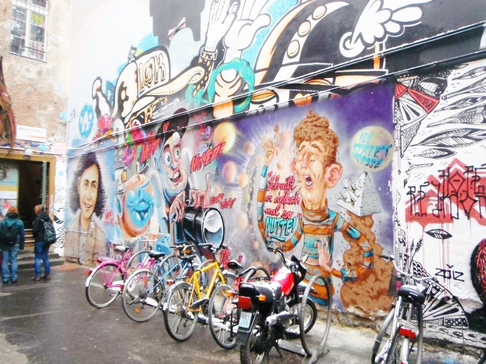 Berlin street art bicycles
