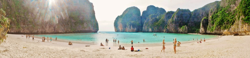Maya Bay beach panorama
