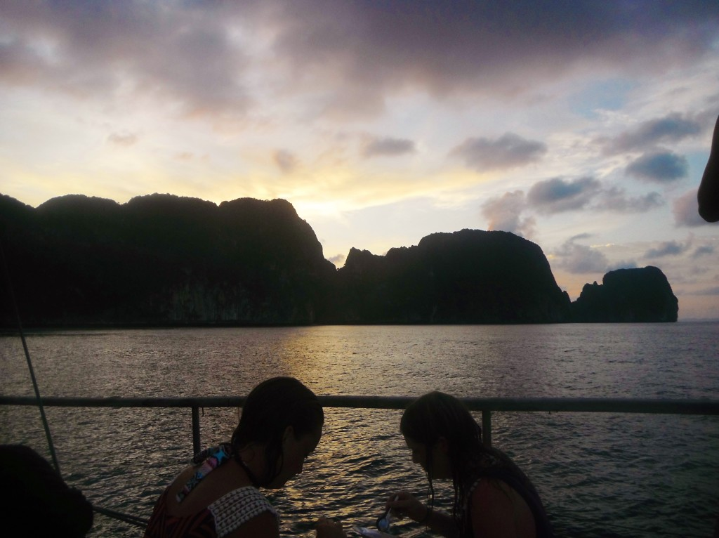Sunset boat trip in Thailand