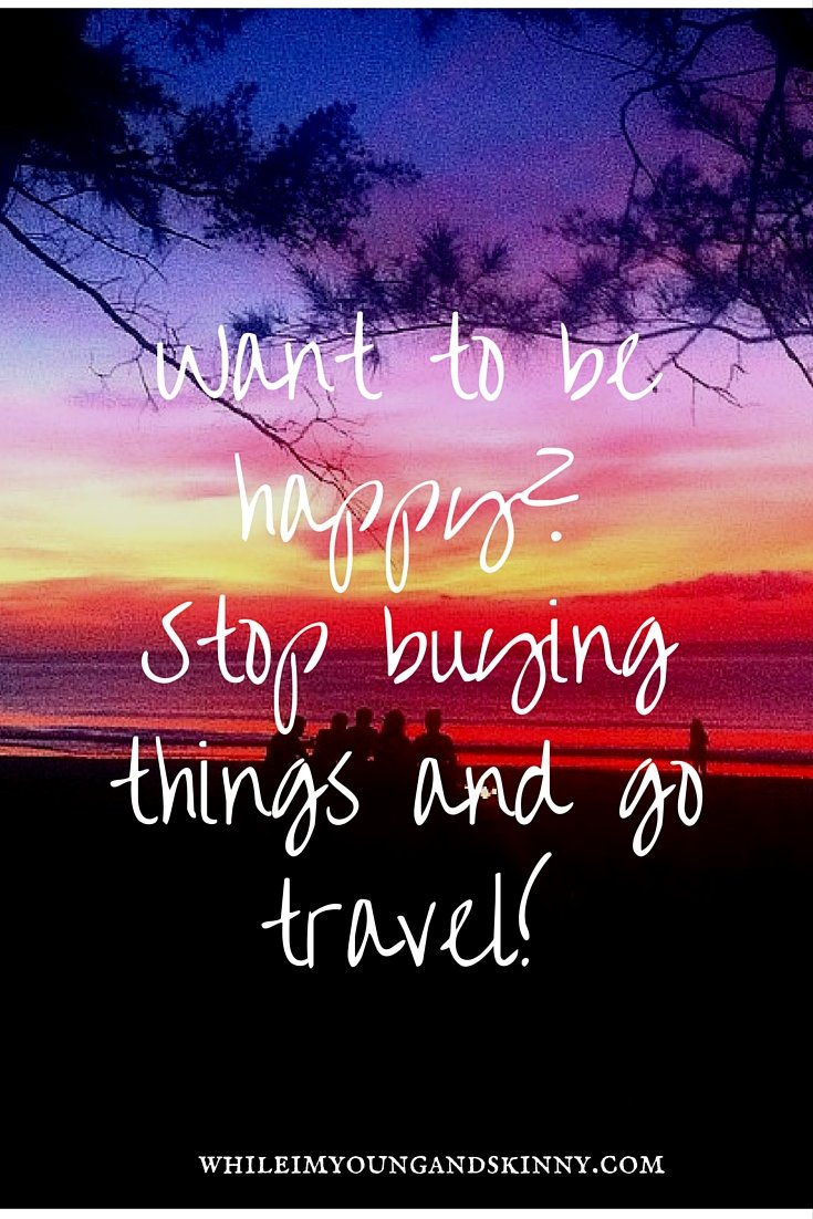 travel makes you happy
