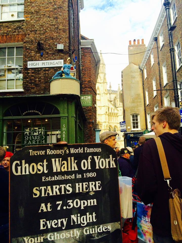 Ghost walk sign York