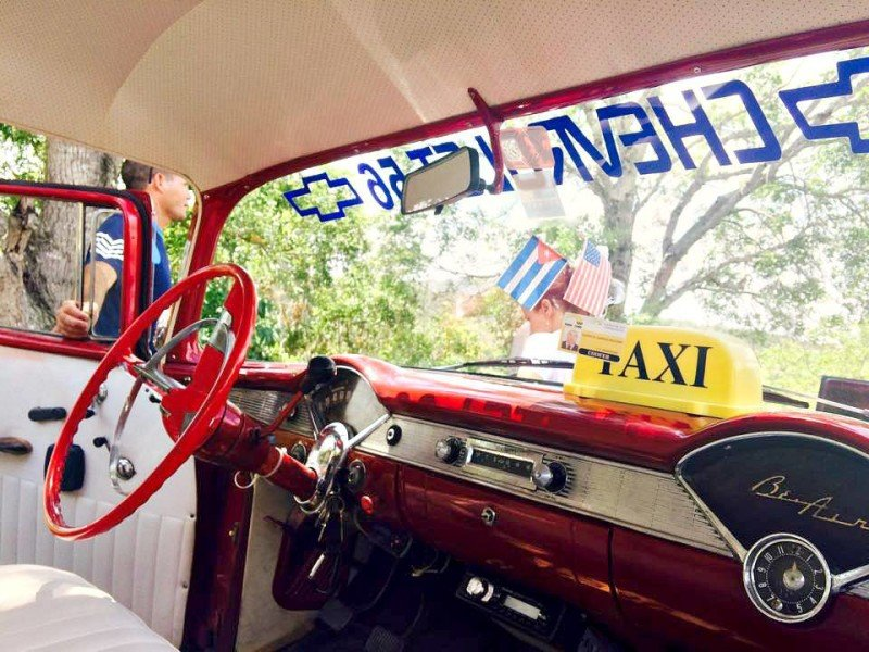 Cuban classic car interior
