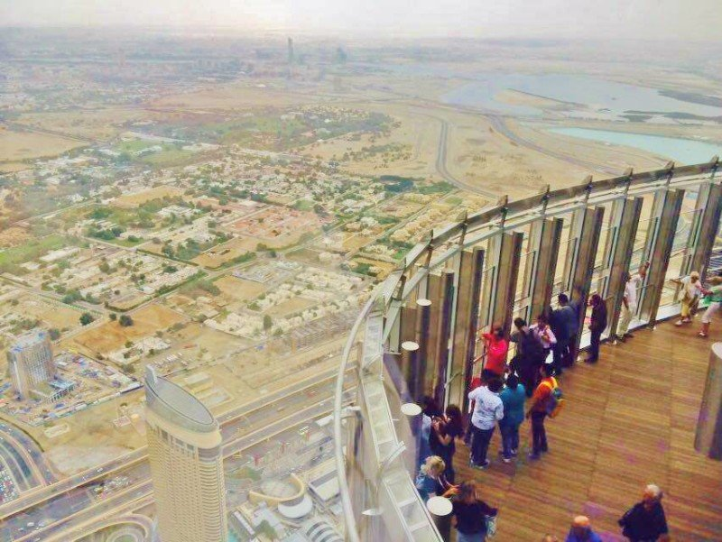 outdoor burj khalifa viewing platform