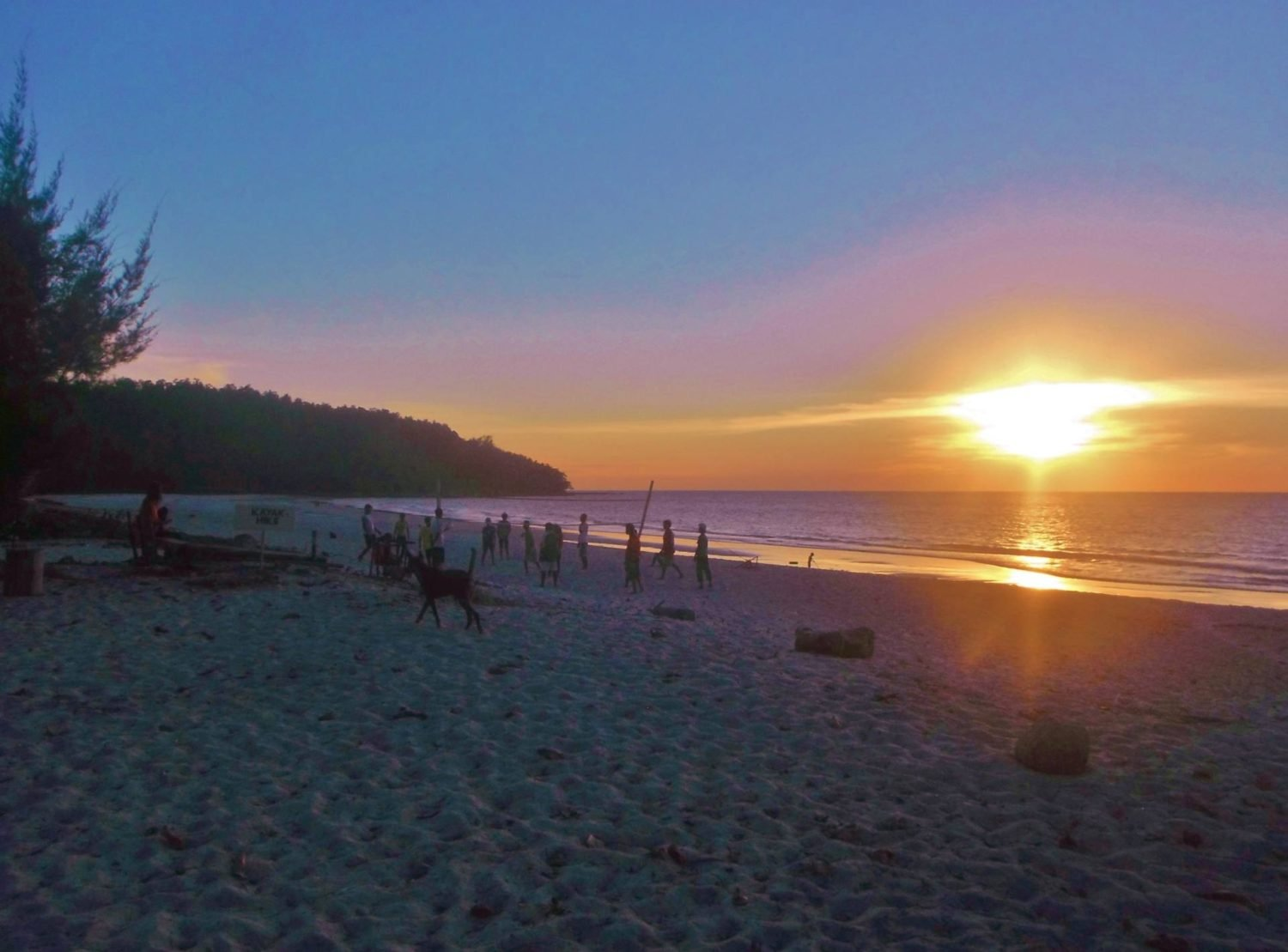 Borneo beaches at sunsets