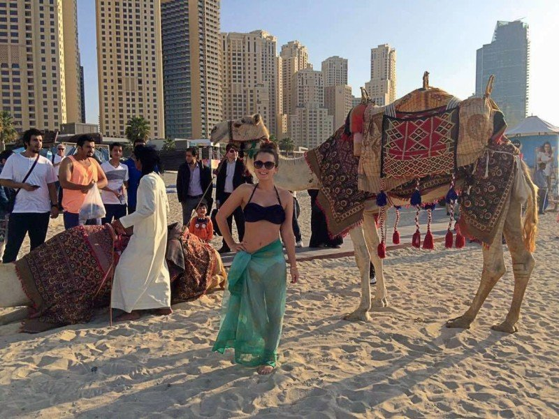 girl on jumeirah beach
