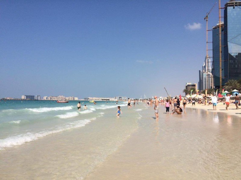 JBR beach at weekend