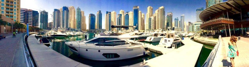 Panoramic Dubai marina