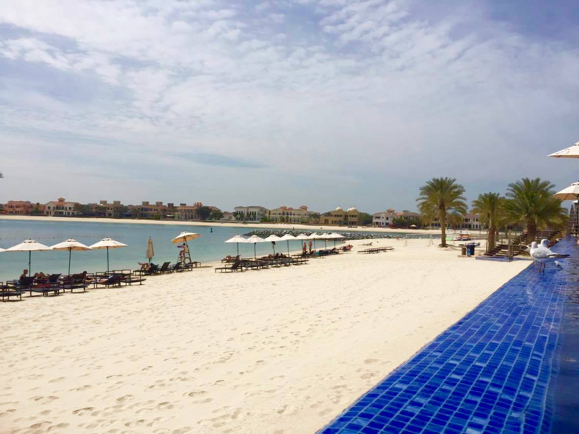 Beach at Oceana on the palm in Dubai