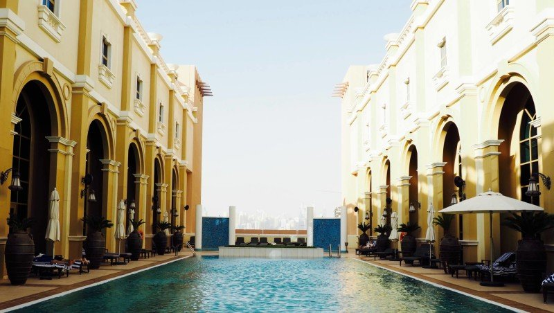 rooftop pool Ibn Battuta hotel