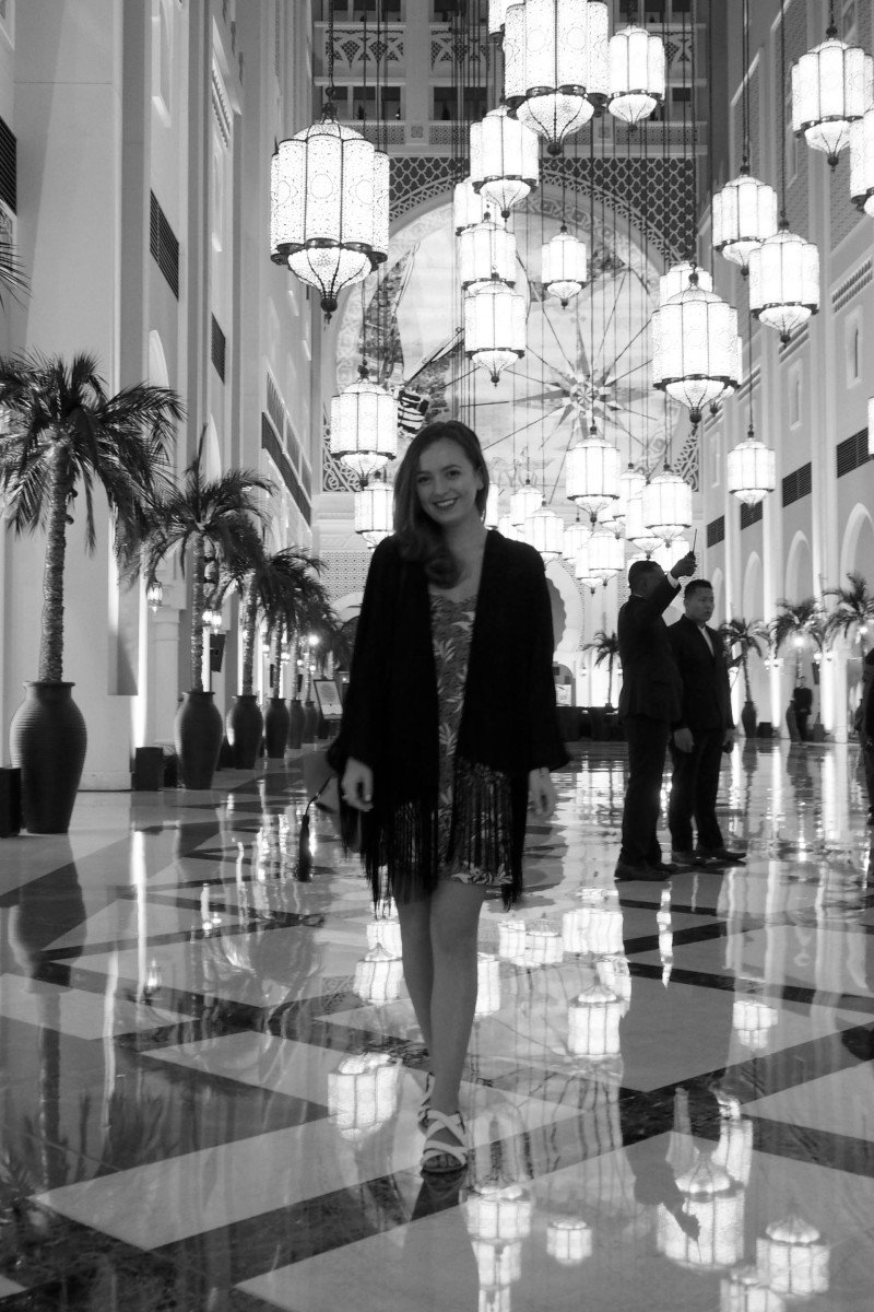 Dubai travel blogger at Ibn Battuta hotel