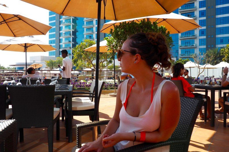 Sun terrace at West 14th Dubai