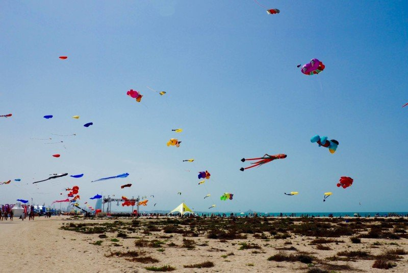 Dubai kite festival on sand