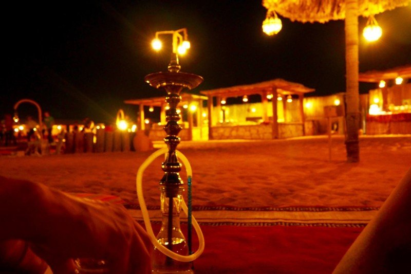 Shisha pipe at a Bedouin camp in Dubai