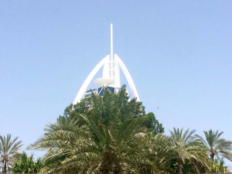 Burj Al Arab from road