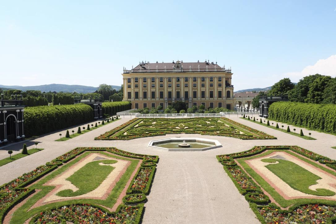 Schoenbrunn Palace Vienna grounds privy garden