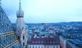Vienna rooftops from St Stephen's Cathedral