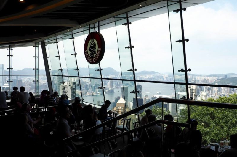 View from top of Victoria Peak Hong Kong mall