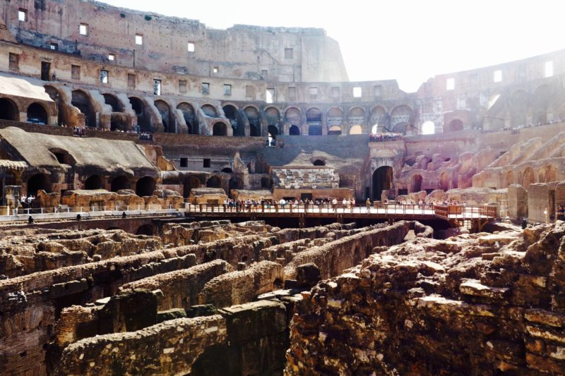 Rome 2 day itinerary inside the colosseum