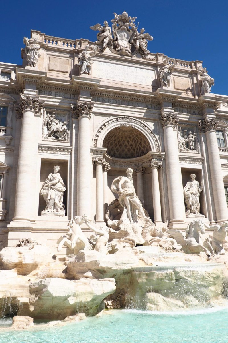Rome two day itinerary trevi fountain