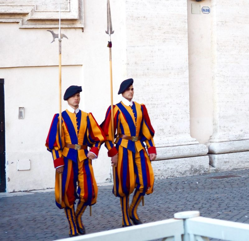 changing guards vatican