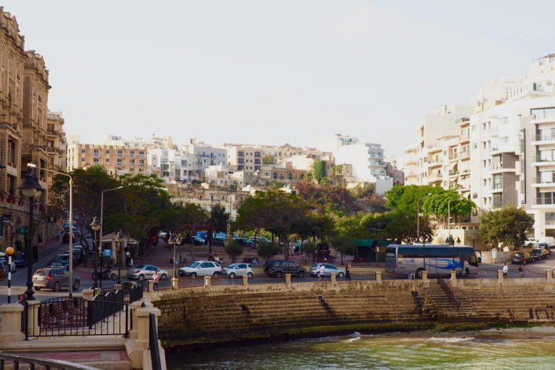Malta in one day must-sees: Balluta Bay architecture