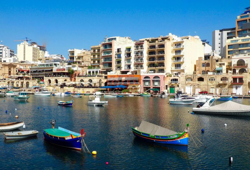 Malta in one day must-sees: Balluta Bay