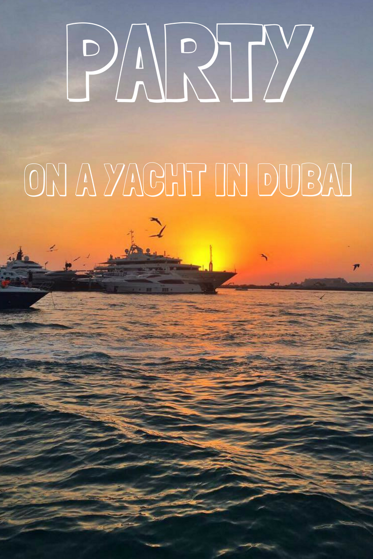 Yacht party in Dubai