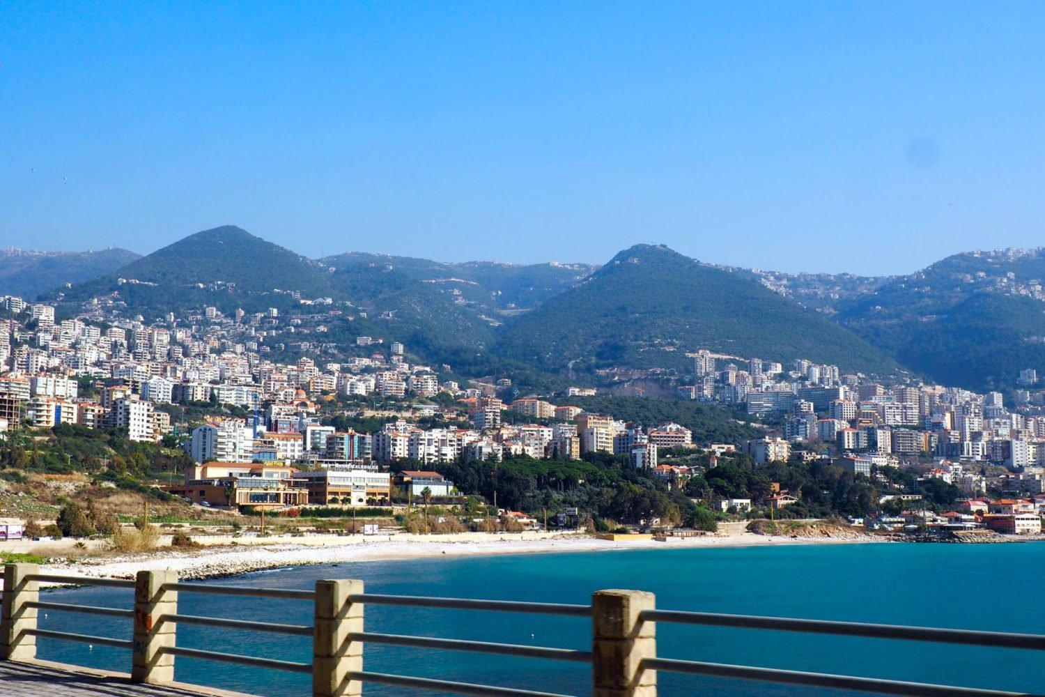 Two days in Lebanon: coastal views during bus travel