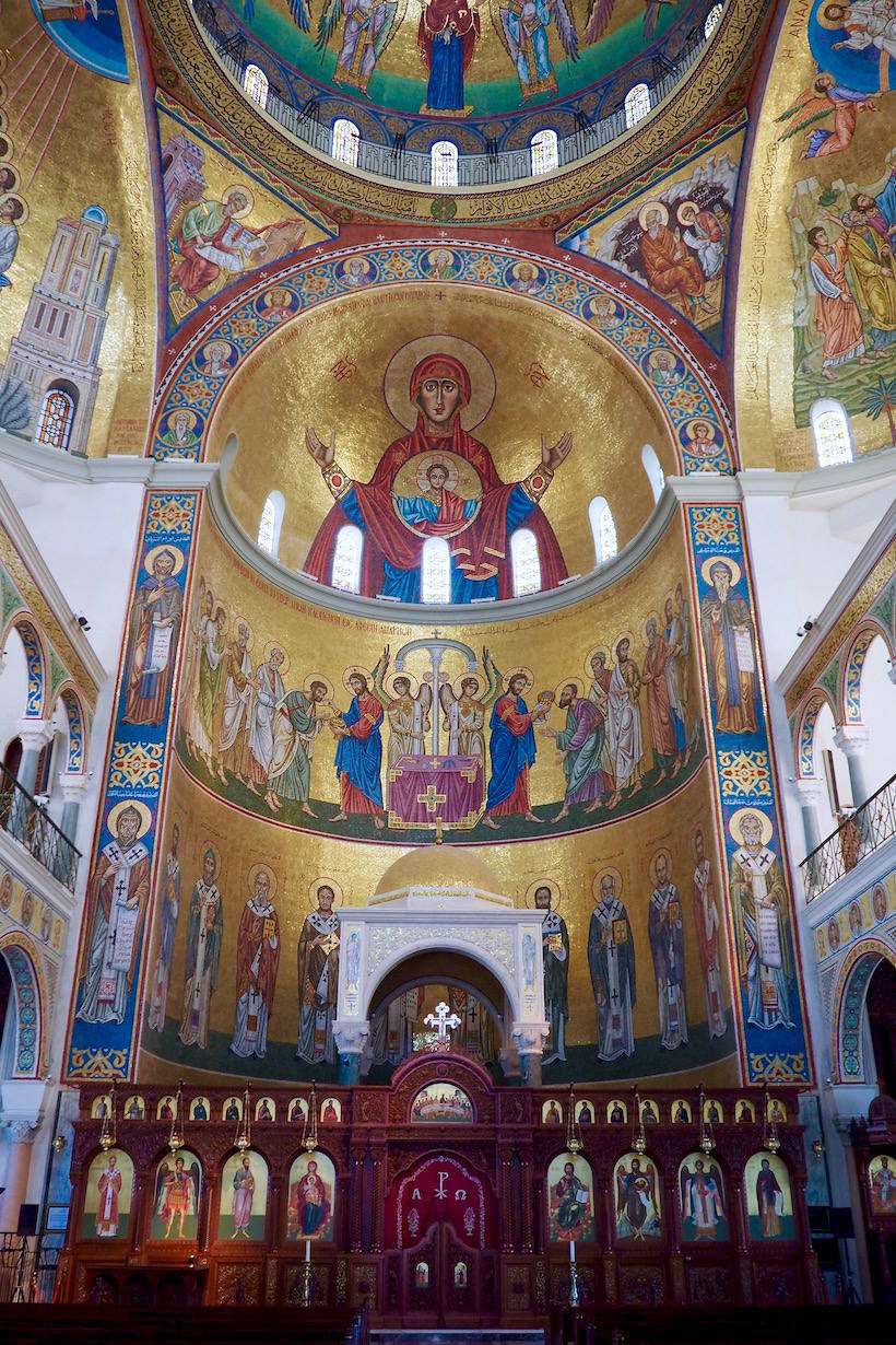 Inside Saint Paul Cathedral in lebanon