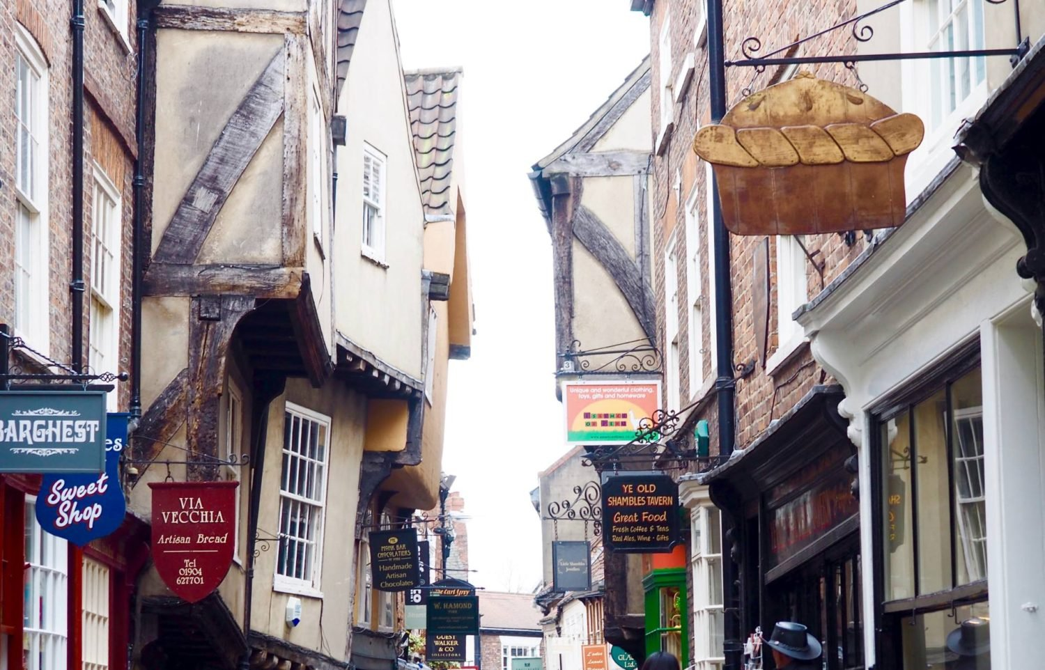 The Shambles, York on a food tour of the city