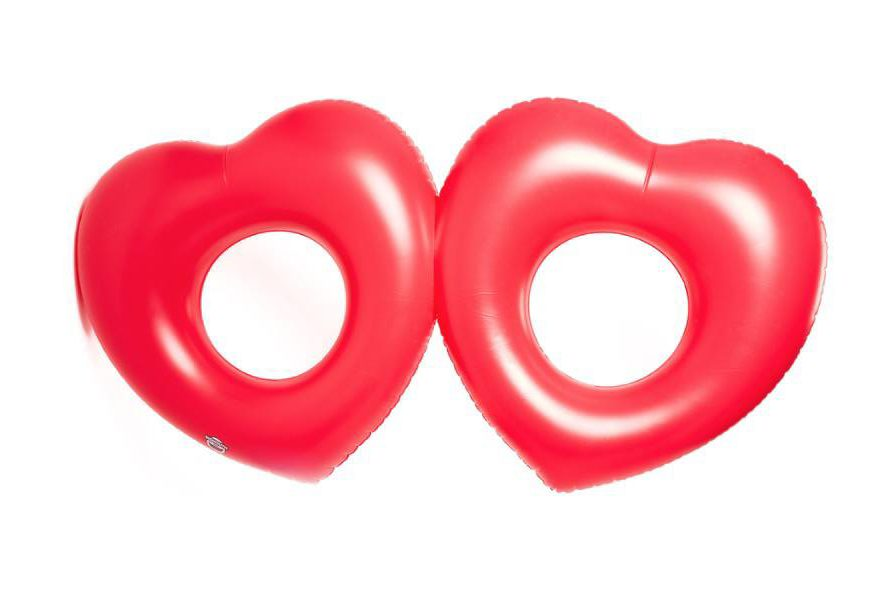 Heart shaped double pool inflatable