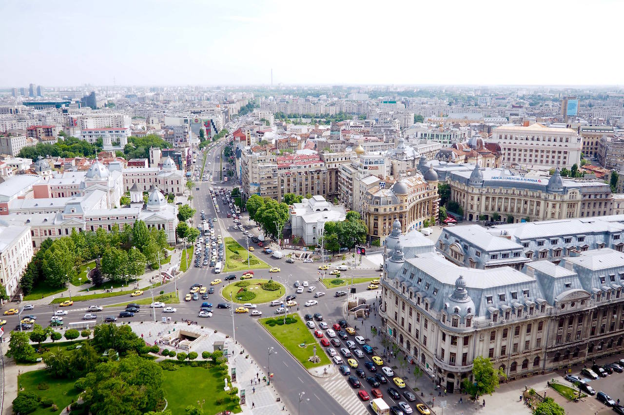 bucharest from above
