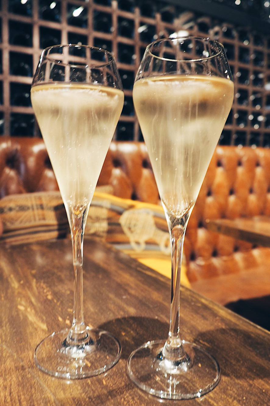 Bottomless champagne brunch in Mayfair