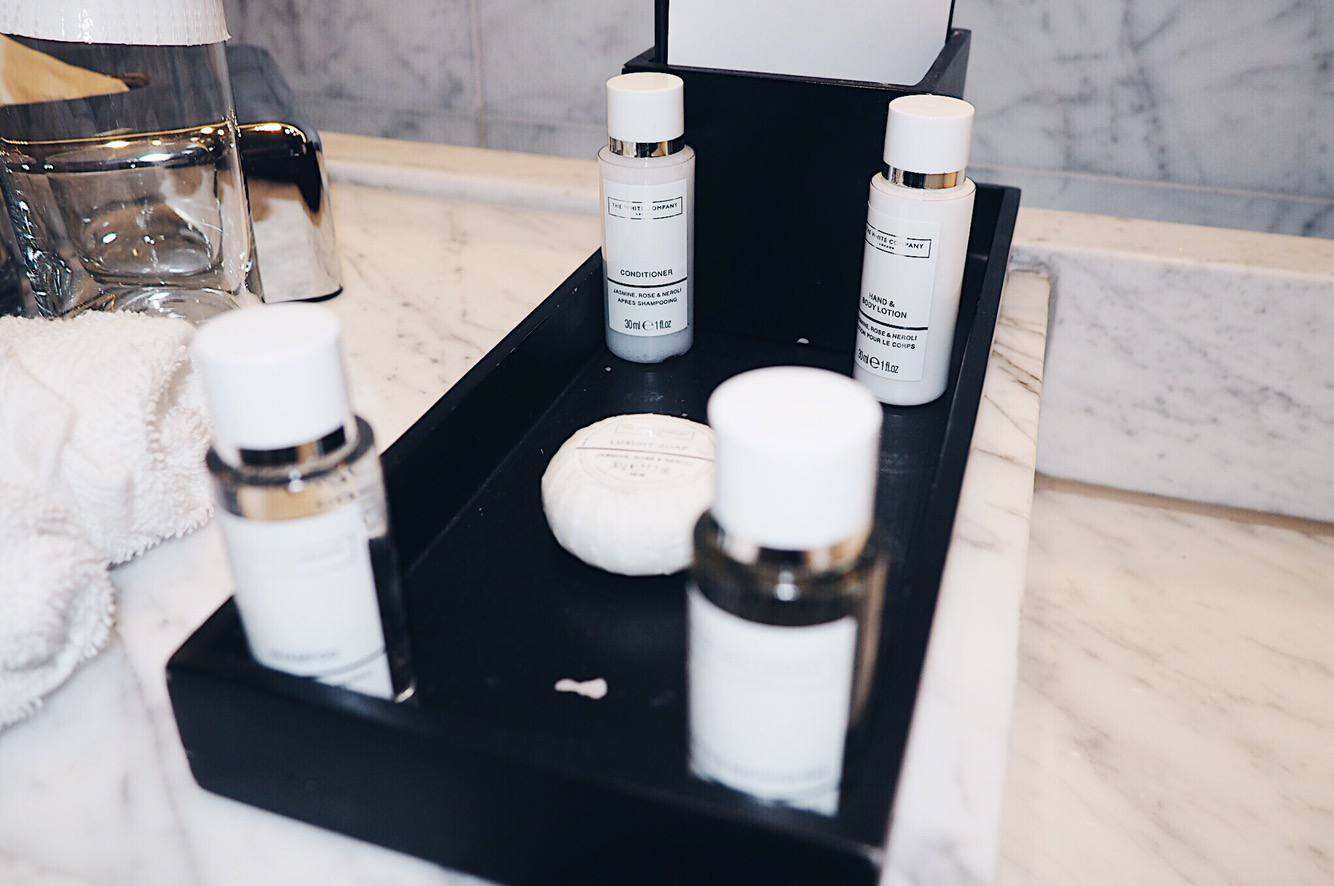 La Suite West review: bathroom toiletries