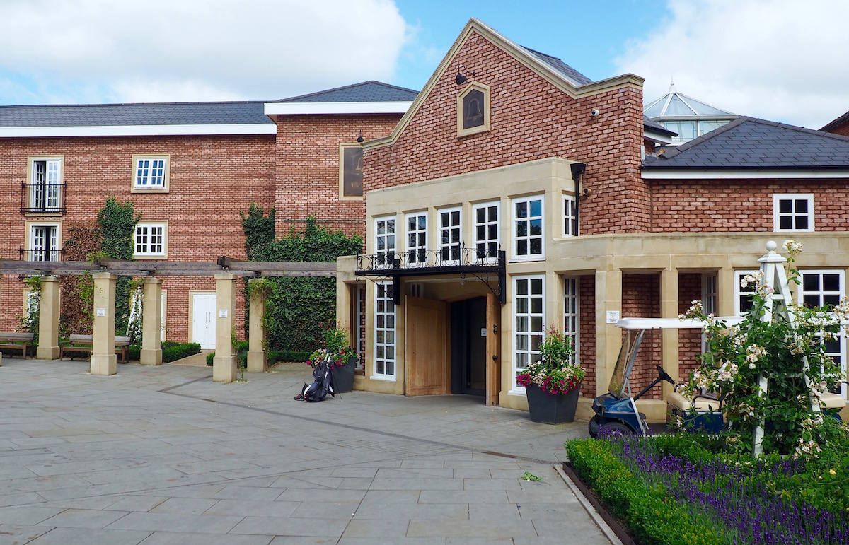 The Belfry hotel entrance