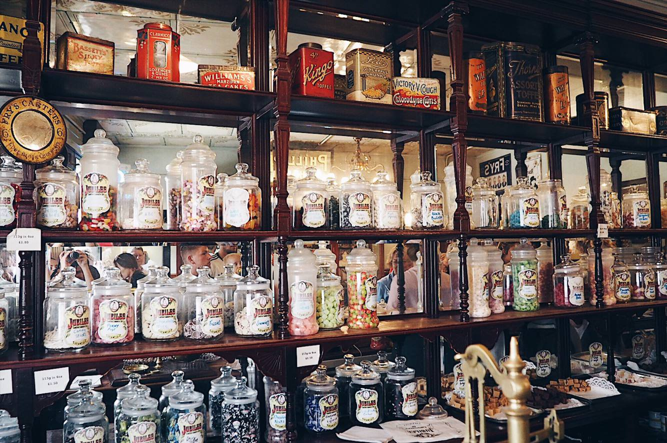 Old fashioned sweet shop at Beamish