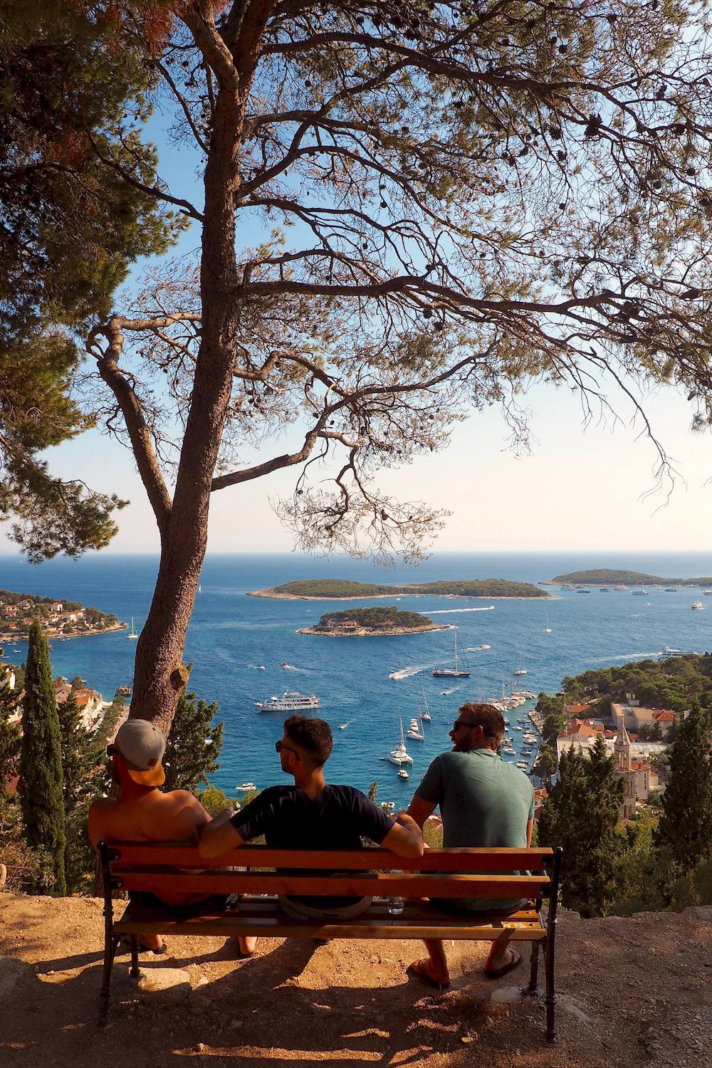 View from Spanish Fortress in Hvar