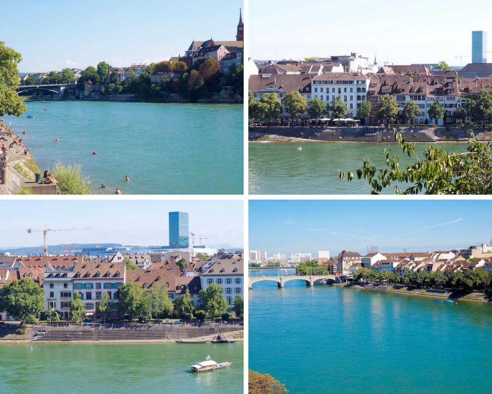 Swimming in the Rhine in Basel