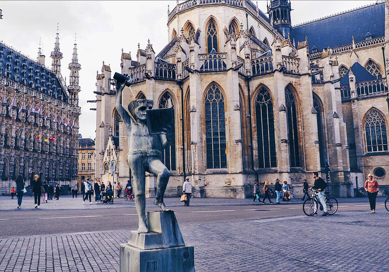 Famous statue in Leuven