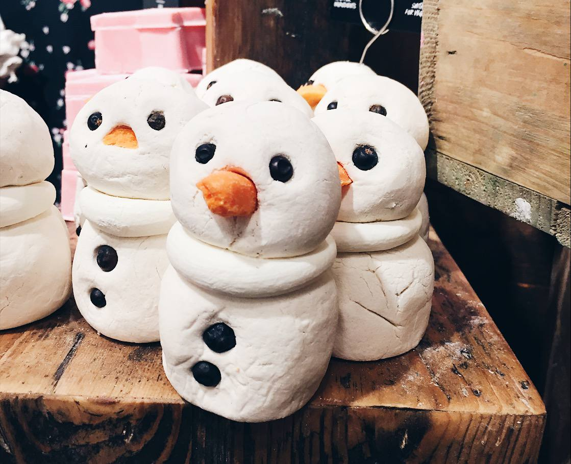 Snowman products from Lush