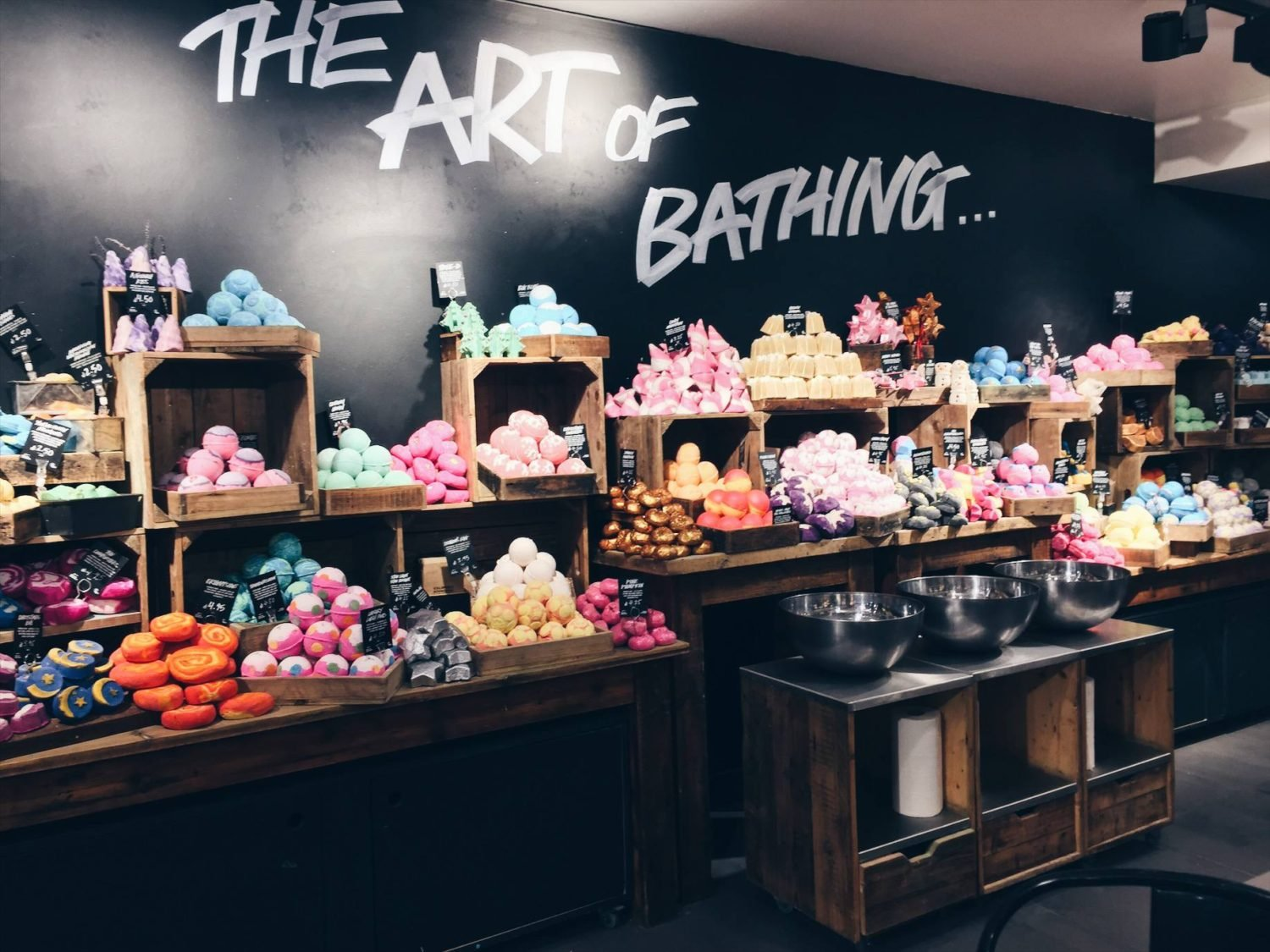 Festive bath bombs from Lush