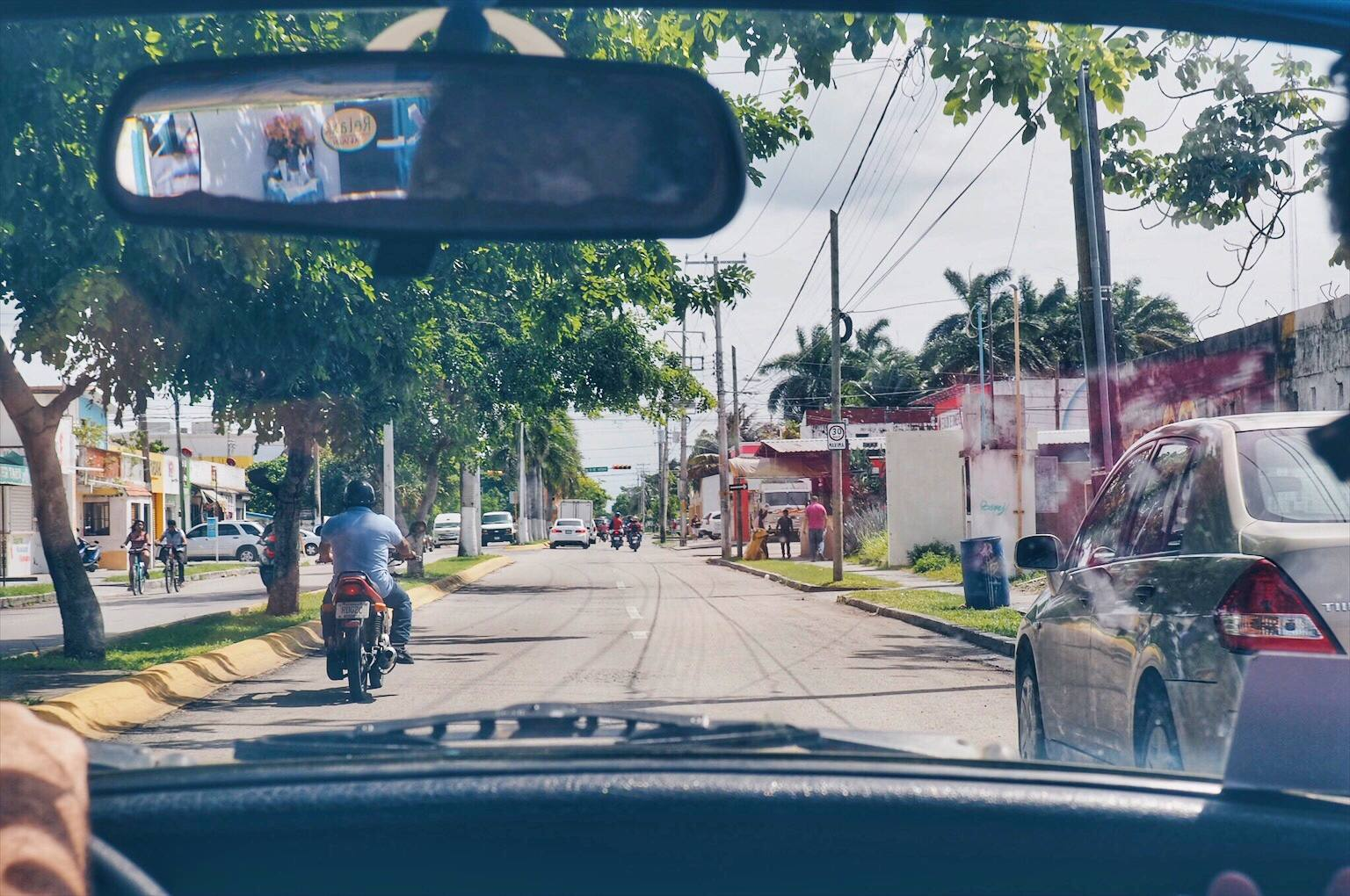 Driving in Cozumel Mexico