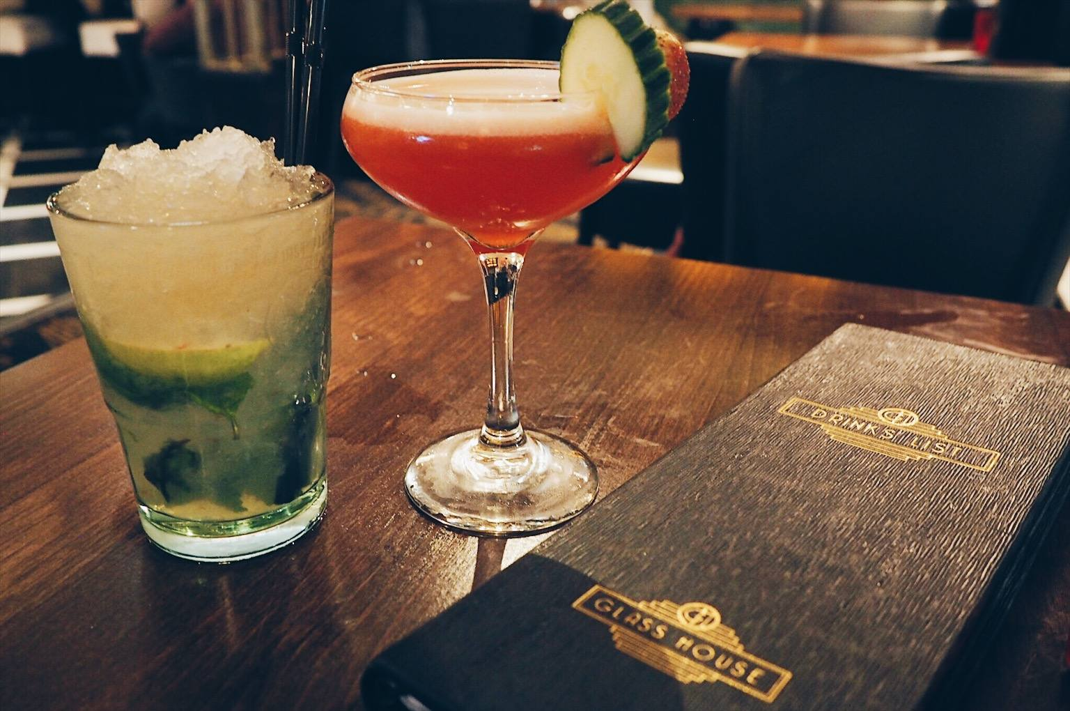 Cocktails at Glasshouse Newcastle
