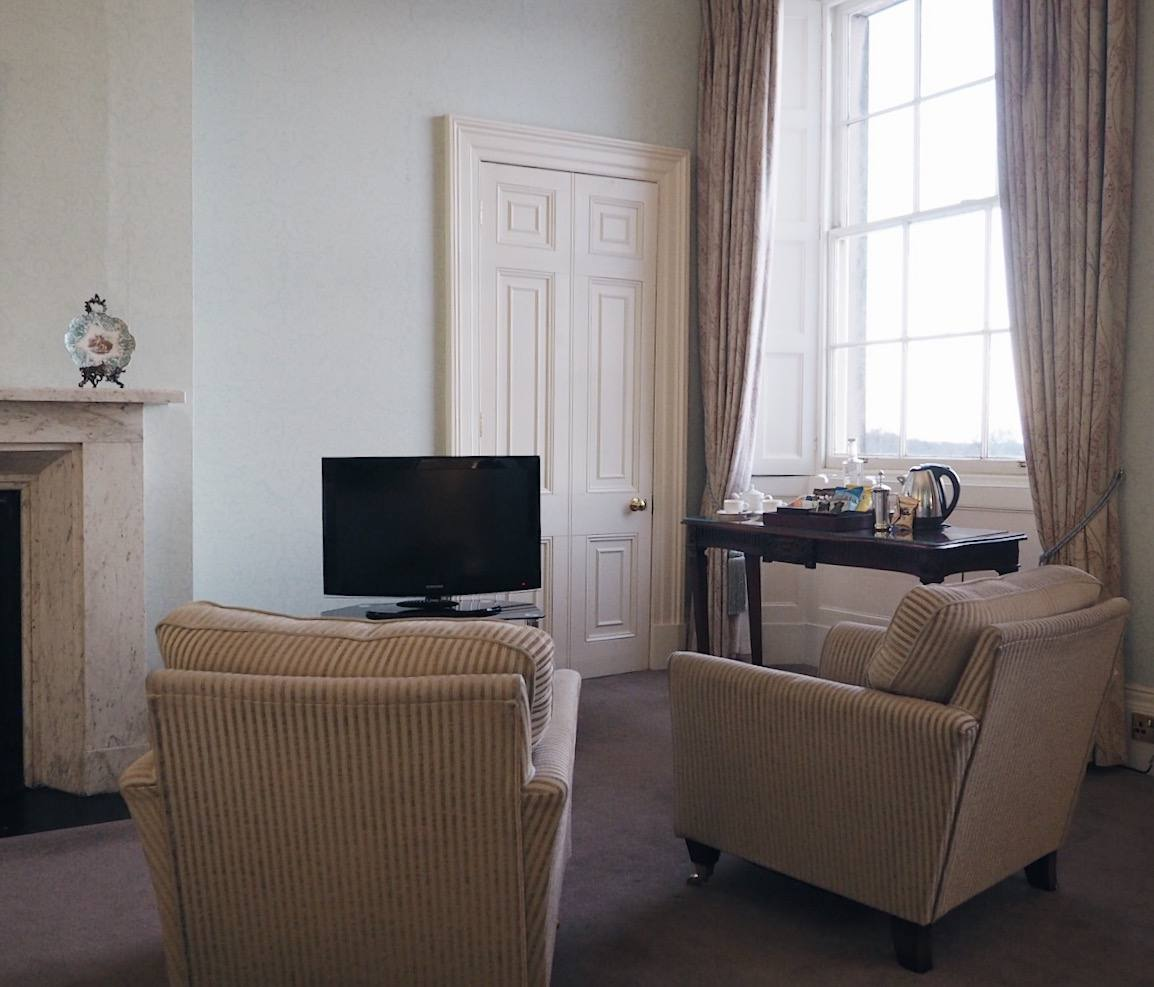 Wynyard hall hotel review: Frances Anne Suite sitting room