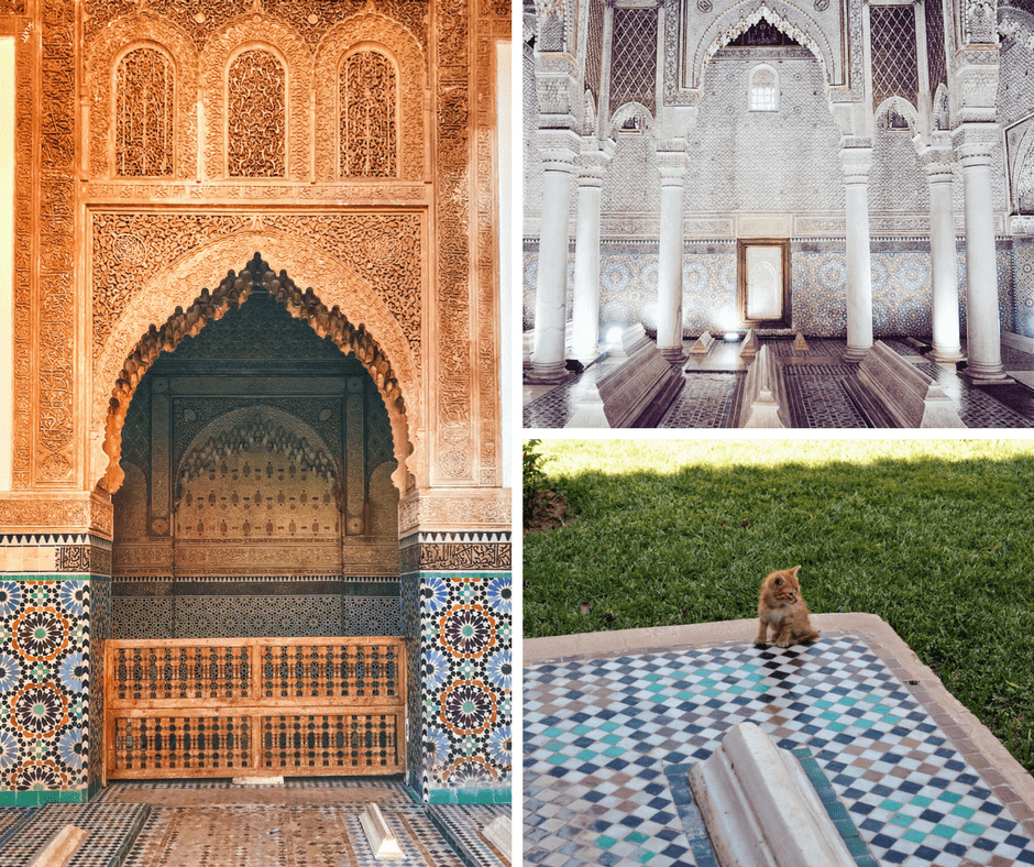 Marrakech four day itinerary: saadian tombs