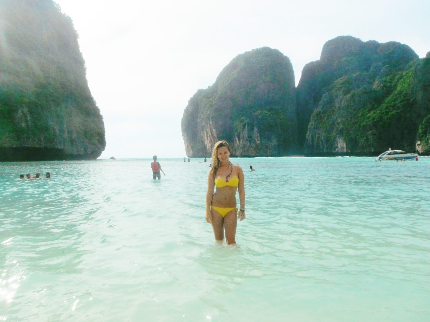 In The Sea At Maya Bay